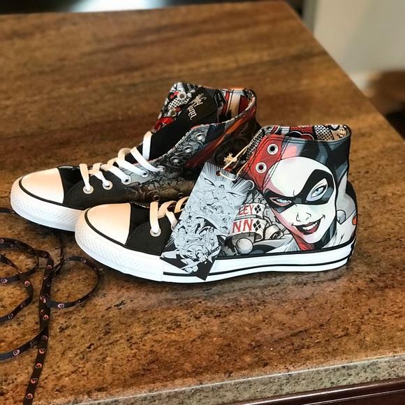 5530274ab911 Converse Harley Quinn Chuck Taylor Hi Top Sneakers